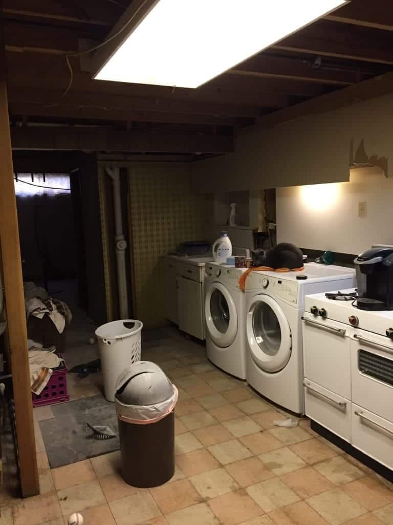 Before photo of laundry room