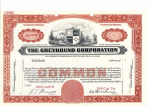 Greyhound stock certificate (courtesy of Wikimedia Commons)