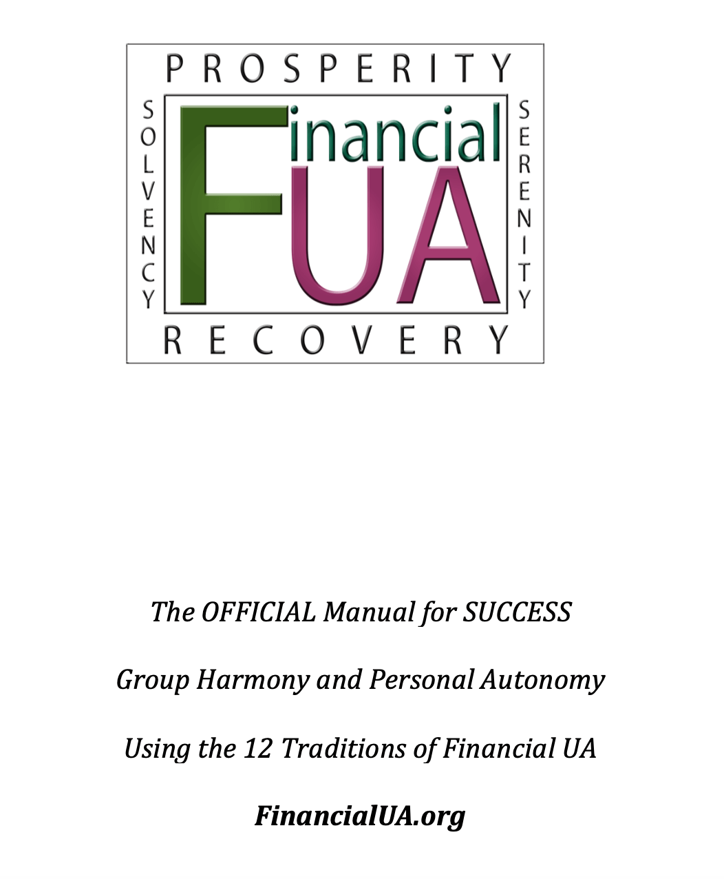 Financial Ua 12 Tradition Workbook Part 1 The Official Manual For Success