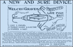 Welch Graves Minnow Tube Lure Ad 1893