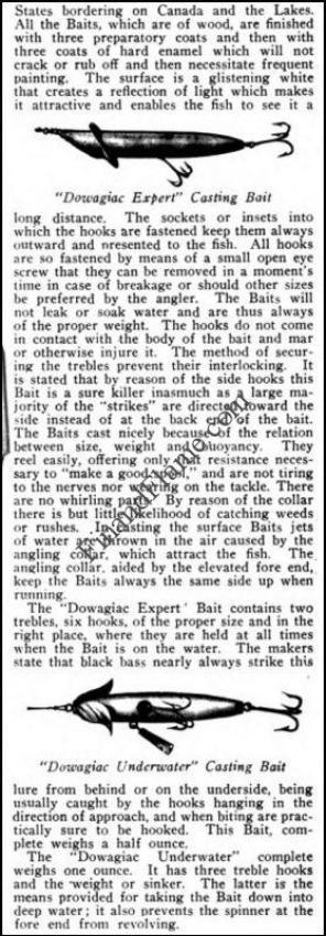 Heddon Dowagiac Underwater Lure 1902 Ad