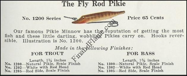 Pikie Fly Lure 1931 Catalog Cut