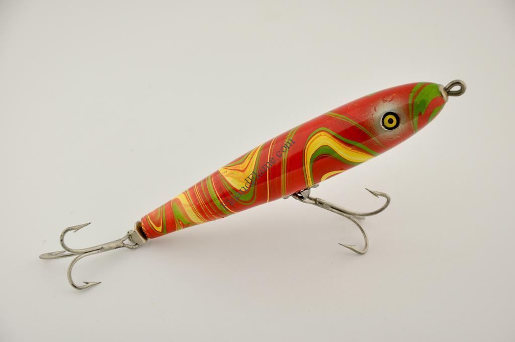 Pflueger ballerina antique lure fin and flame antique lures for Vintage fishing lures