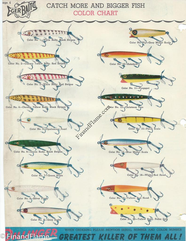 Eger Dillinger Lure Color Chart