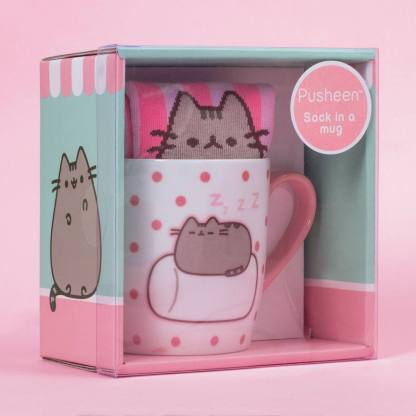 Pusheen Sock in a Mug