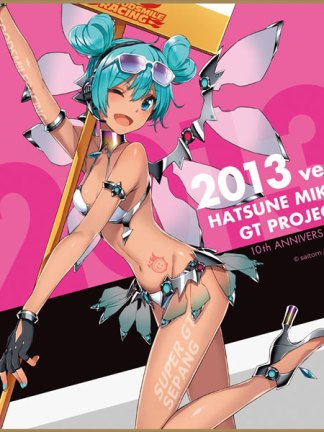 Racing Miku 2013 ver design 3 - Hatsune Miku Racing Ver. 2013 Mini Shikishi Board 10th Anniversary Design #2 shikishi