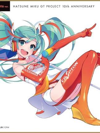 Racing Miku 2016 ver design 2 - Hatsune Miku shikishi