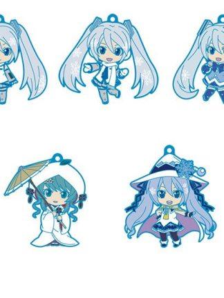 Hatsune Miku Snow Miku Nendoroid Plus Keychain Bmb Display by Good Smile Company - Hatsune Miku