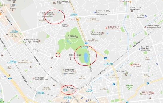 Oreimo Chiba Station School Map