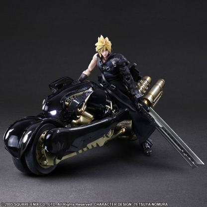 Cloud Strife - Cloud Strife and Fenrir Final Fantasy VII Advent Children Play Arts Kai Figure