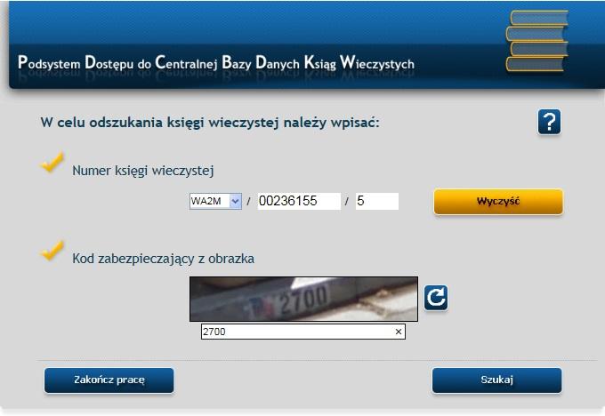Przeglądanie KW Online