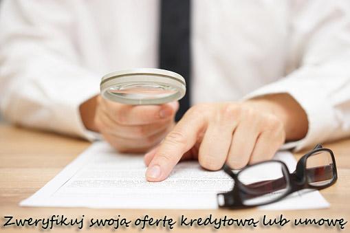 Zweryfikuj swoją ofertę kredytową