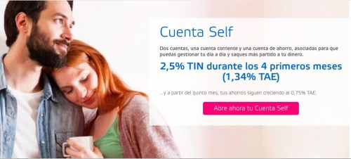 cuenta self dinero crece