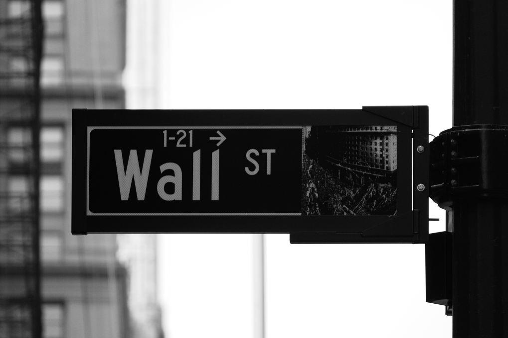 Straßenschild der Wall Street