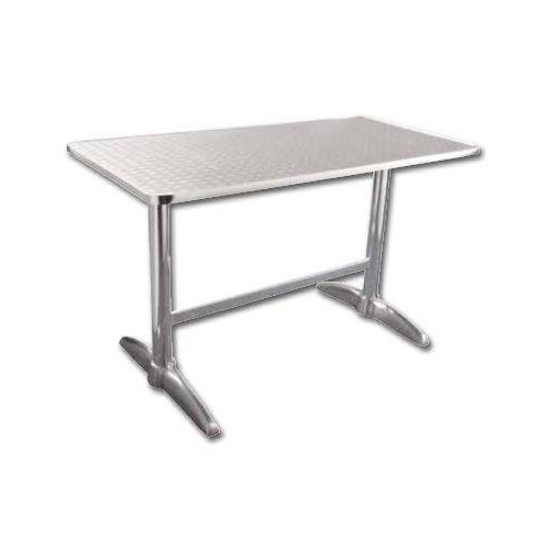 table rectangulaire de bistro en inox bolero 600 x 1200 mm