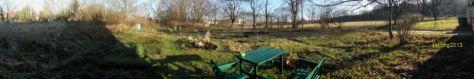 Gartenblick am 31.12.2013