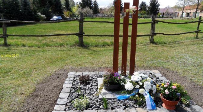 Die Gedenkstätte für die ermordeten Zwangsarbeiter am 23.04.2017