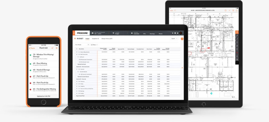 Procore Construction Tender Software