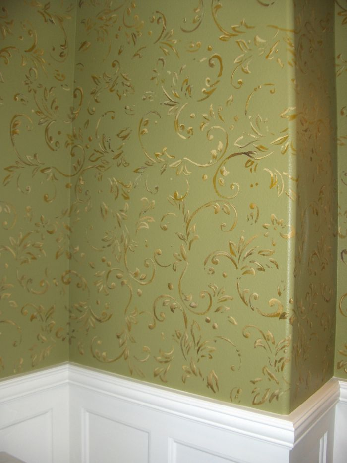 Faux Finish Textures And Painted Wall Paper Mural Photo