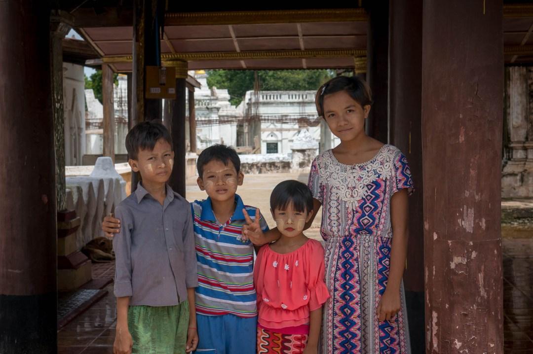 Burmese Children posing for picture