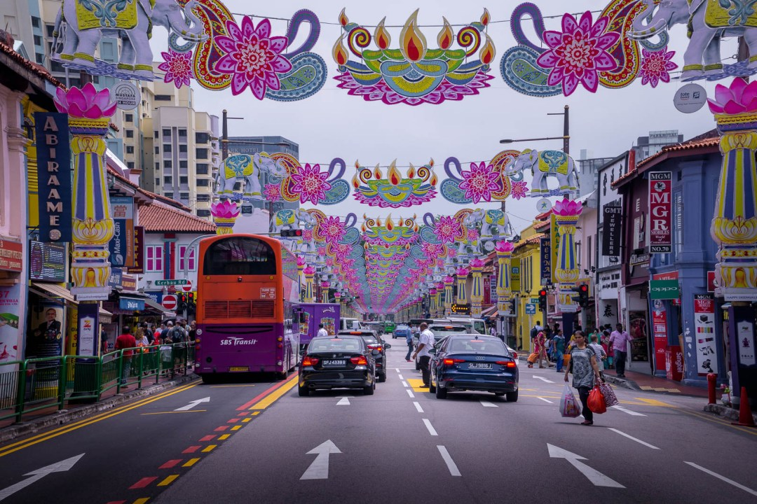 Decorated street in Little India