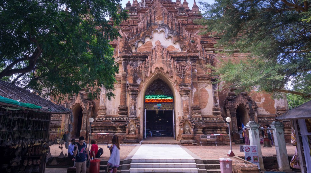 Entrance to temple and hawkers