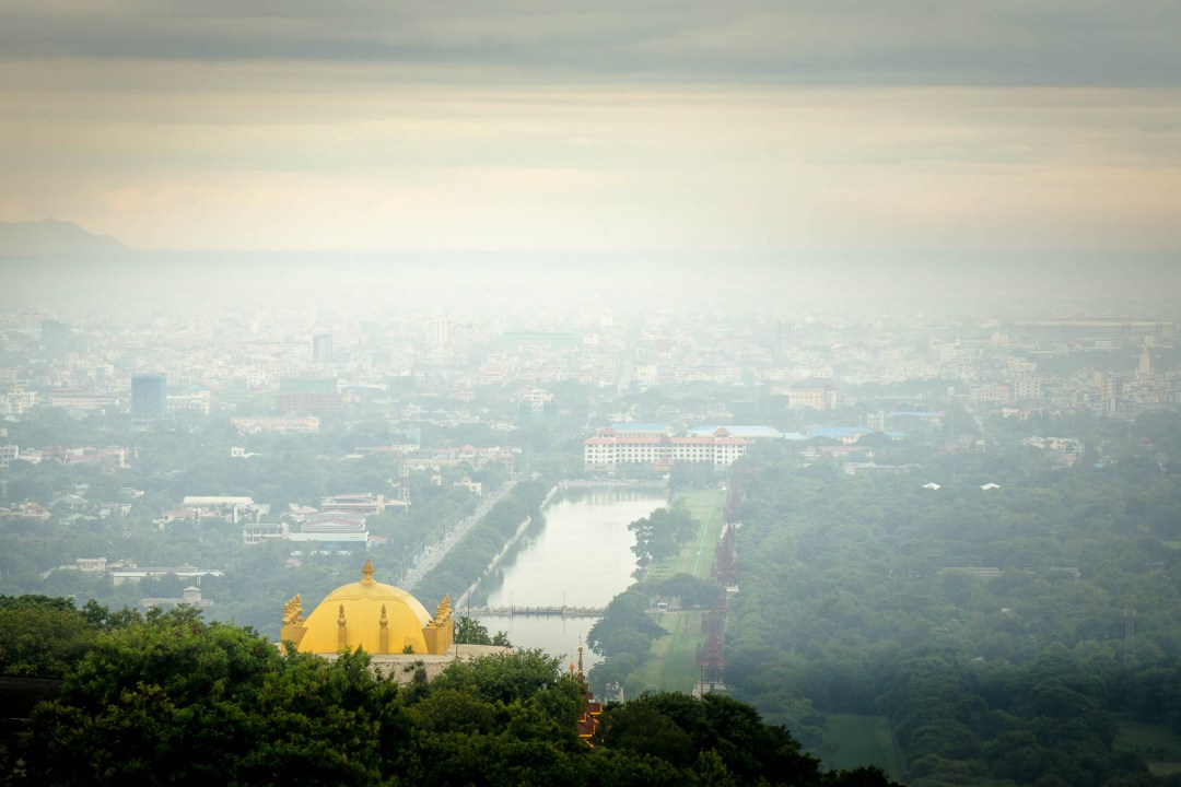 Sunrise from Mandalay hill