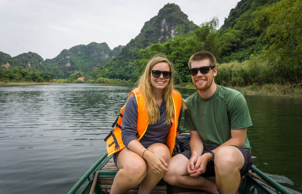 Ben and Hilary on boat ride