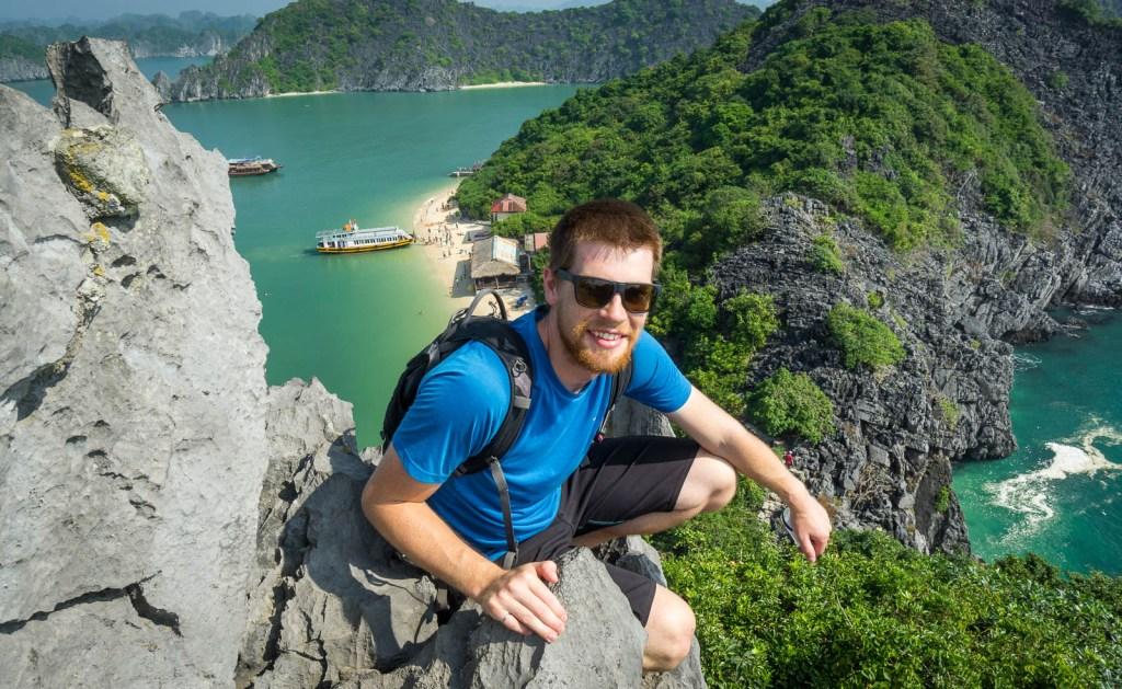 Ben on top of monkey island
