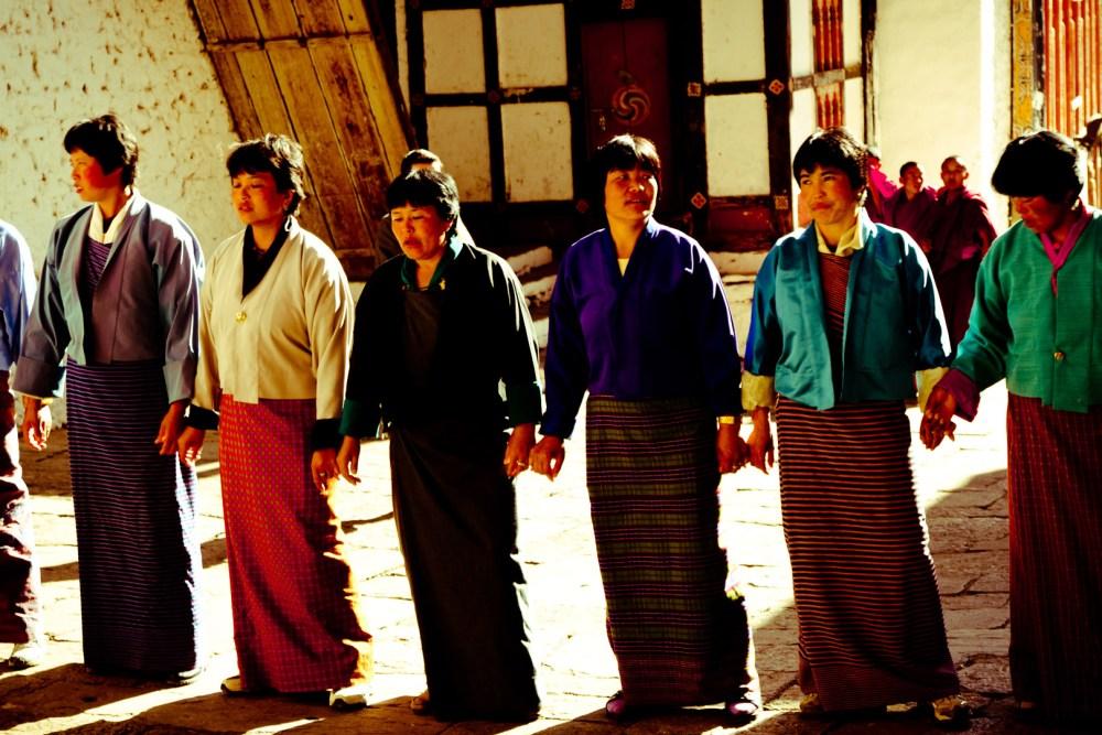 Bhutan Women Dancing