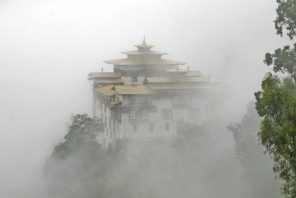 Trashigang Dzong Fog View