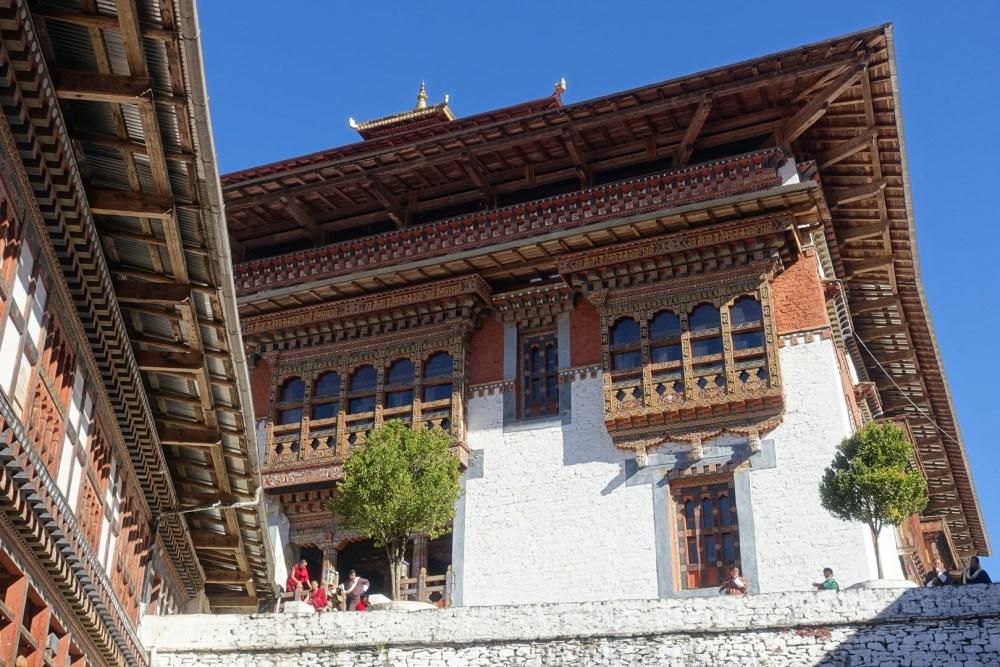 Trongsa Dzong Interior View