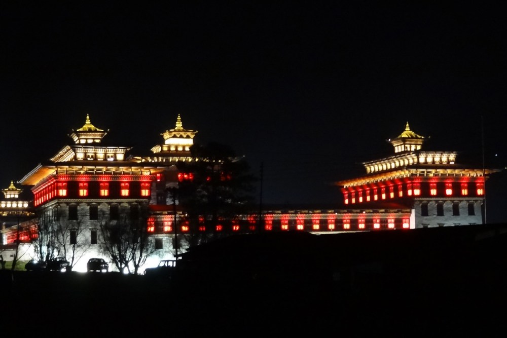 TASHICHHO DZONG Night View