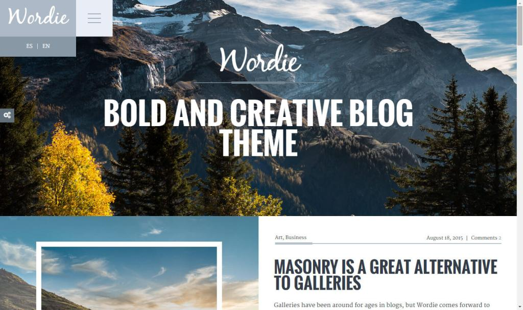Wordie WordPress theme