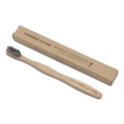 Bambus tandbørste - medium - sort trækul
