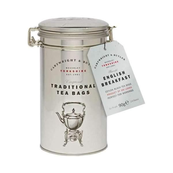 Dåse med English Breakfast tea (te-poser)