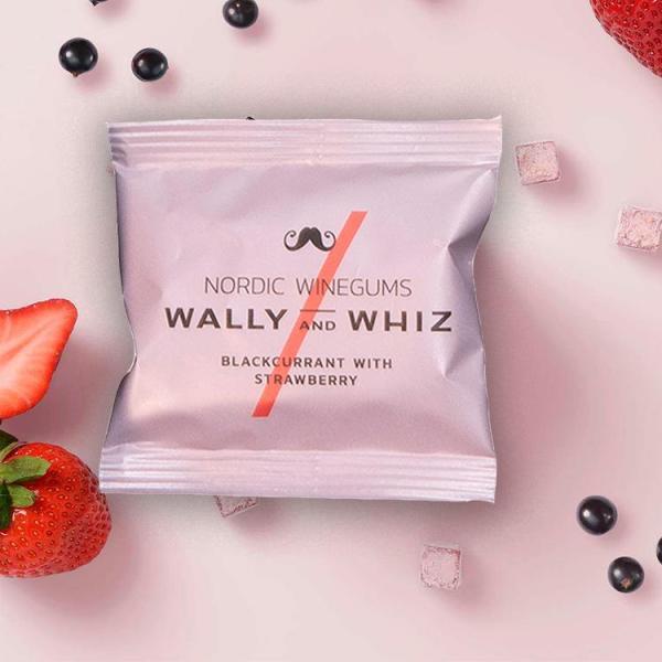 Flowpack Wally & Whiz vingummi - Solbær med Jordbær