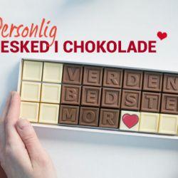 Personlig meddelse i chokolade (1)