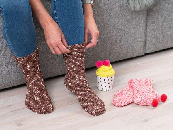 Cupcake Socks - Chokolade