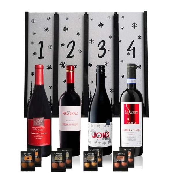Adventskalender med Rødvin - Delux