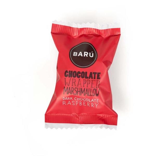 Marshmallow med Hindbær & Mørk Chokolade (Flowpack)