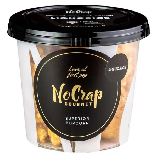 Popcorn med lakrids, No Crap