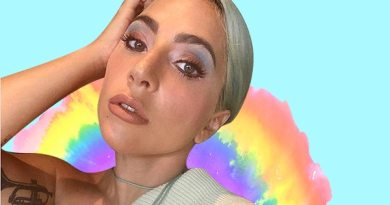 How to recreate Lady Gaga's rainbow makeup look