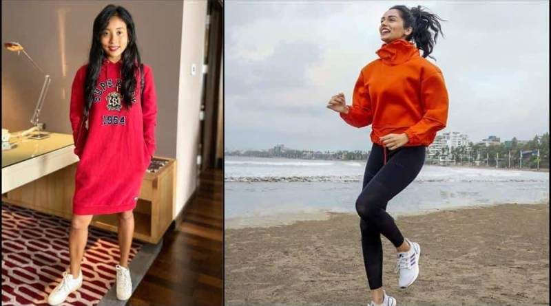 Knee-length hoodie dress or cool sweatshirt? Ankita Konwar-Manushi Chhillar become our fall outfit inspiration