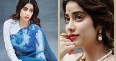 Janhvi Kapoor takes Instagram back to the 1950s with her yesteryear fashion in brocade, polkas and blue netted saree