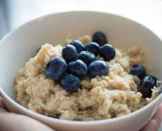Fiber Rich Food Oats and Blueberry