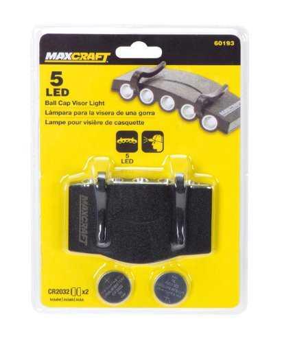 Maxcraft 60193 5-LED ball cap visor light