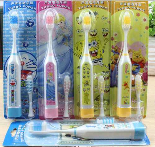 Cartoon style sonic pulse electric toothbrushes