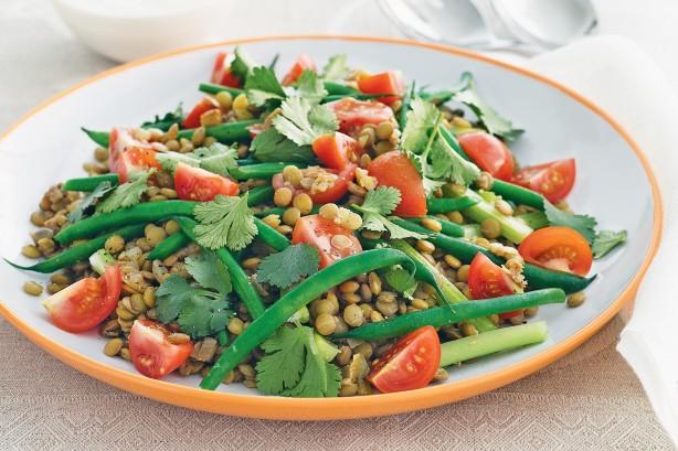 lentil green bean salad