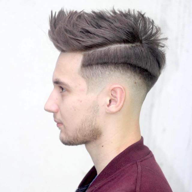 Erkekler için Pomp Fade Saç Modelleri